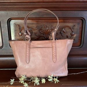 NWT-Frye Reed Large Leather Tote-Dusty Rose